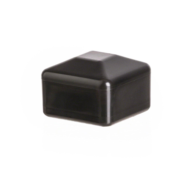 10 piezas capuchones cuadrado 40x40 negro Tapó n para postes de pilar Tapa para poste plá stico EMFA square external cap