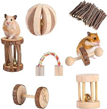 ratti e giocattoli per piccoli animali domestici giocattoli da masticare cincill/à AchidistviQ criceti molari conigli ratti Grinder per criceti