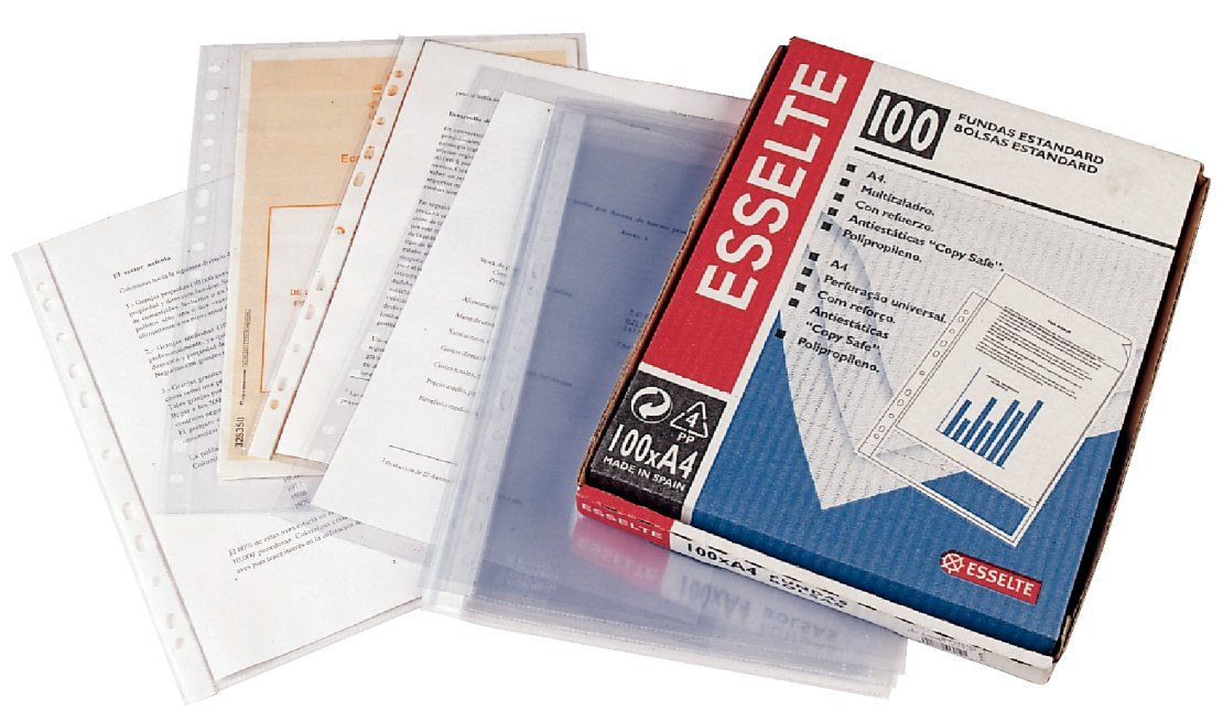 Leitz Funda porta documentos, Tamaño A4, PP, 80 micras, Multitaladro-16, Transparente, 46099: Amazon.es: Oficina y papelería