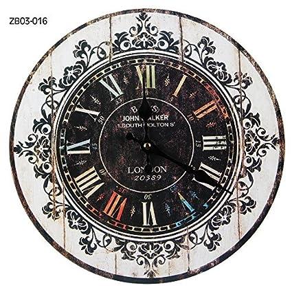 Buyee® Reloj de pared Vintage Shabby Chic Londres Estilo británico 33 – 34 cm reloj