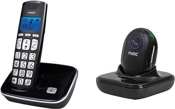 Teléfono inalámbrico grandes teclas + Botón SOS portátil para emergencias: Amazon.es: Electrónica