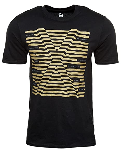 a745ad3fb4ca Image Unavailable. Image not available for. Color  Air Jordan Mens Retro X 10  Accolades Shirt Gold Black ...
