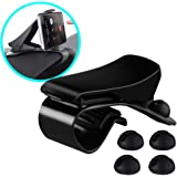 Car Phone Holder, COOLEAD HUD Simulating Design Car Mount Holder + 4 Non Slip Cable Clips,Universal for iPhone/Samsung/Huawei,Almost Smartphones(Holds Up to 6.5 inch Phone)