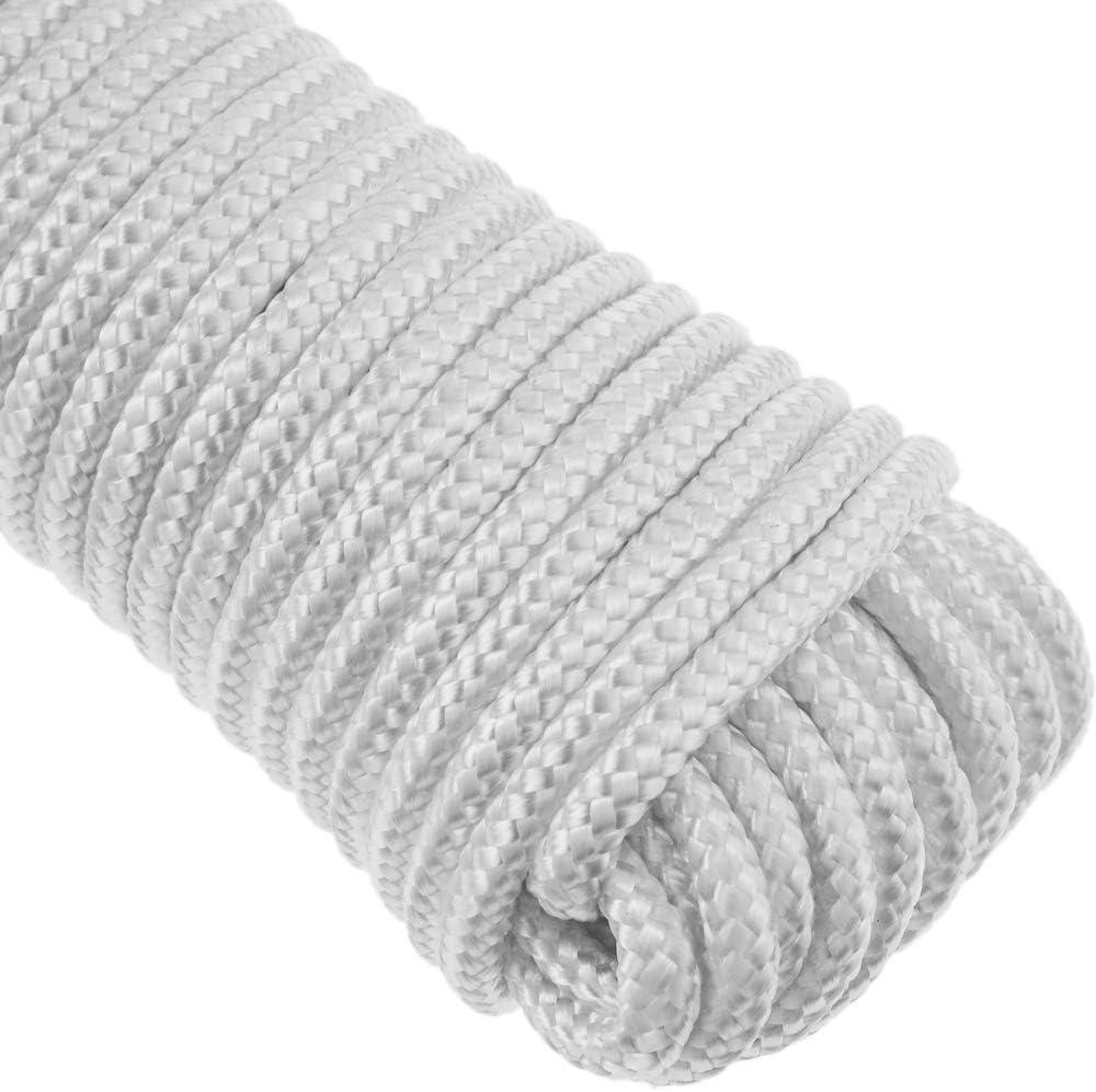 PrimeMatik Cuerda Trenzada de poli/éster 10 m x 6 mm Blanca