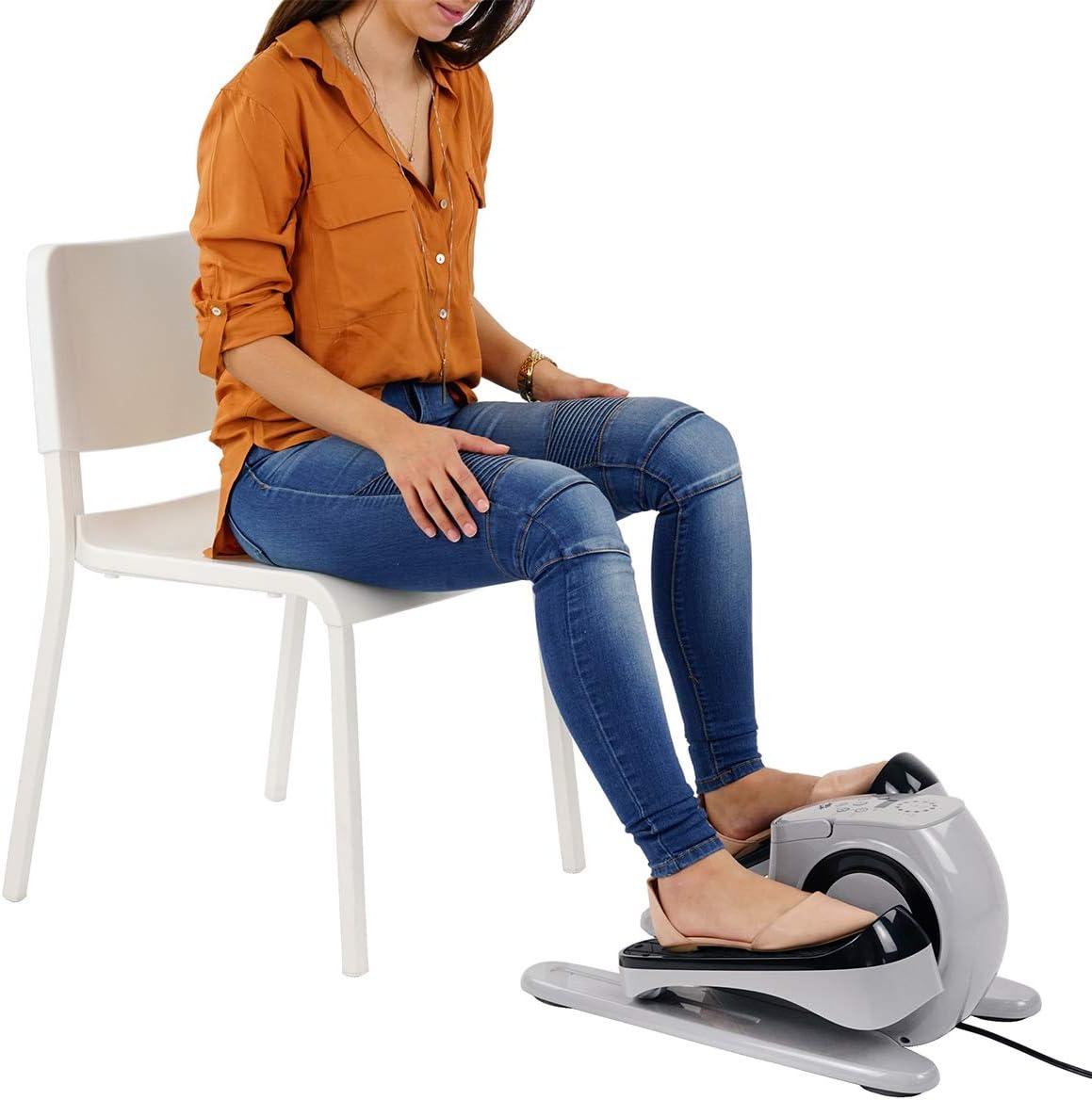Sunny Health & Fitness EZ Stride Motorized Auto Assisted Under Desk Elliptical Peddler