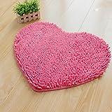 Heart-shaped mats/Bedside window mat at the door/Bathroom water-absorbing non-sliping mats-B 50x60cm(20x24inch)