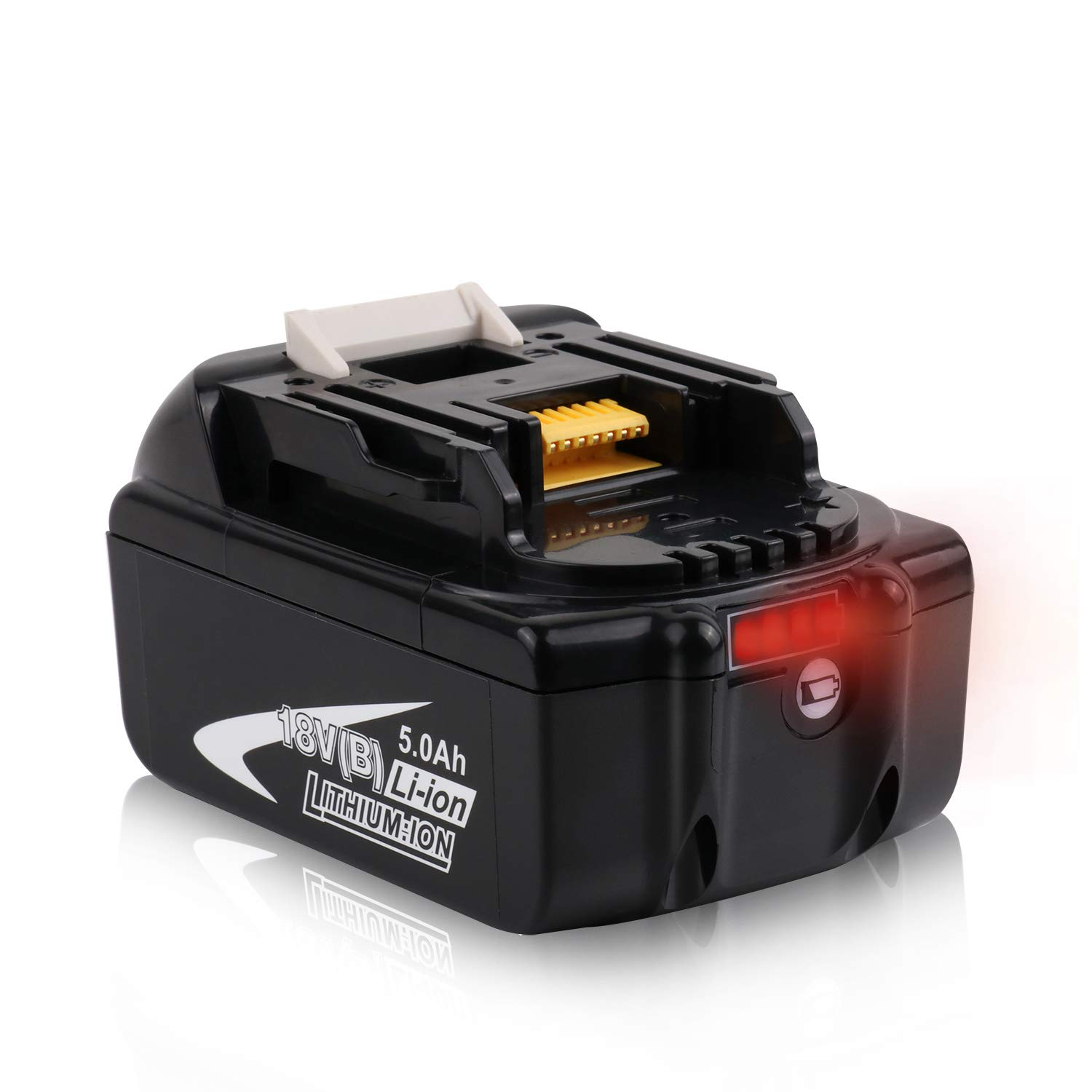 Batteriol Makita 18V 5.0Ah Li-ion LXT Battery Replacement for BL1850B BL1850 BL1840 BL1830 BL1820 Cordless Power Tool with LED Charge Indicator