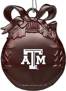 LXG Texas A&M University - Pewter Christmas Tree Ornament - Burgundy