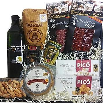 Spanish Gourmet Food Gift Basket 4: bellota acorn fed chorizo sliced, salchichon sliced,