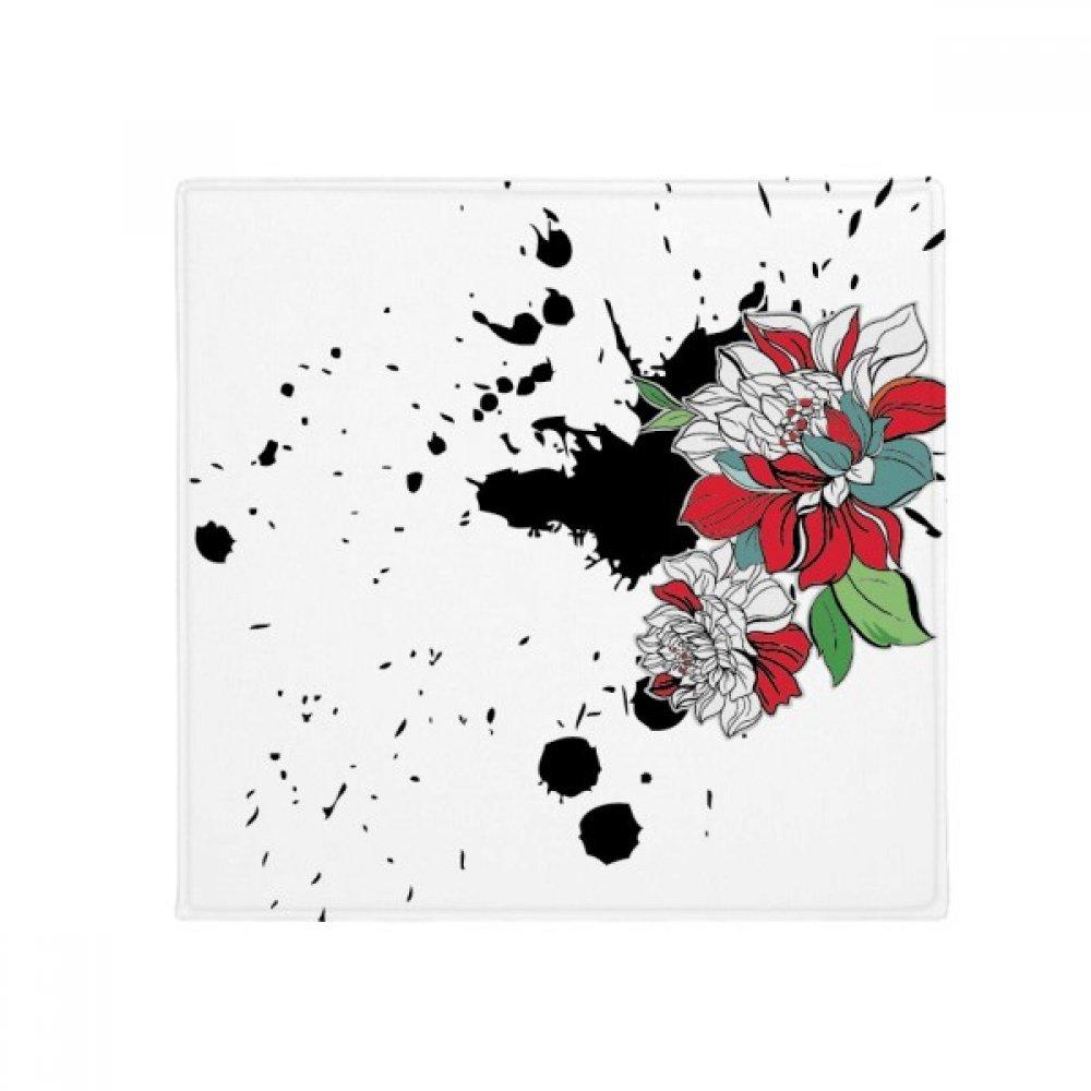 DIYthinker Watercolor Ink Flower Plant Peony Anti-Slip Floor Pet Mat Square Home Kitchen Door 80Cm Gift