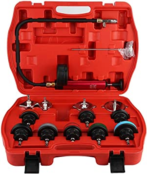 kit de probador del sistema de enfriamiento del probador de presi/ón de fugas del tanque de agua del carro universal 18pcs Duokon Detector de fugas del tanque de agua