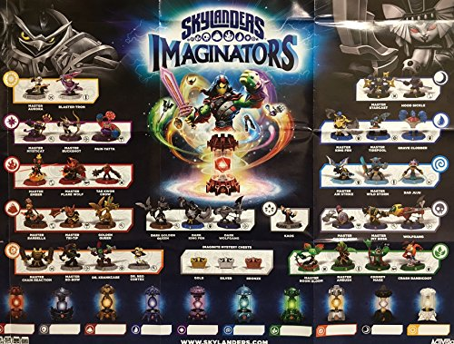 Skylanders DARK EDITION Imaginators Character and Creation Crystal Checklist Poster