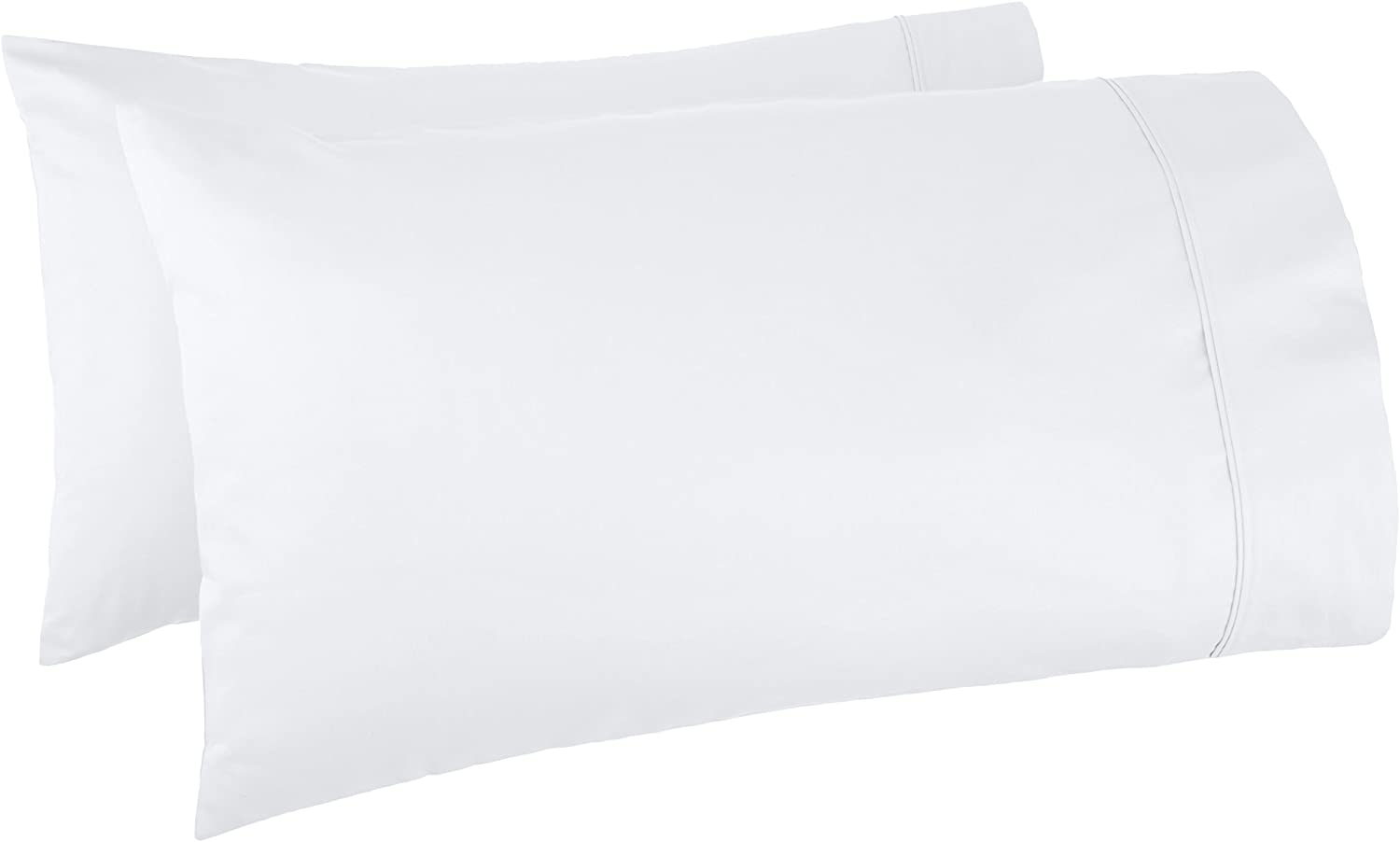 Basics 400 Thread Count Cotton Pillow Cases, King, Set of 2, White: Home & Kitchen
