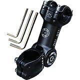 ZHIQIU -60-+60 Degree 90mm 100mm 110mm Adustable Stem Bike Fork Extender Bicycle Handlebar Rise Clamp Adaptor MTB Road Fixed Gear Aluminium Alloy Head Up Adapter Flexible