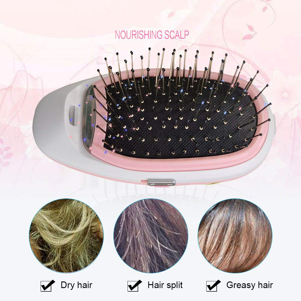 Adealink Portable Electric Ionic Hair Brush Negative Ions Scalp Massage Care Comb Modeling Styling Hairbrush by Adealink (Image #6)