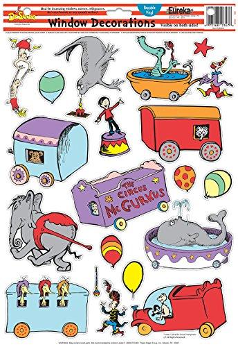 Eureka Dr. Seuss If I Ran The Circus Window Clings (836077)]()