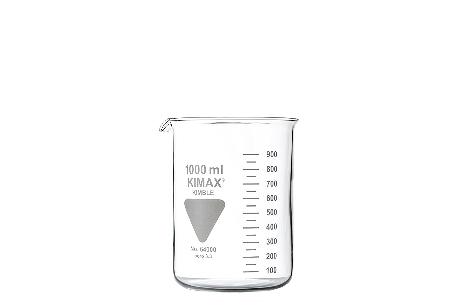 Neolab 1  Bath Beaker Low Form With Spout, Kimax Borosilicate Glass 3.3, 1000  ml 1000 ml 1-0159