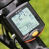 Docooler 多機能 自転車コンピュータ ストップウォッチ 自転車速度計 走行距離計 温度計 防雨 ナイトライト バックライト付き
