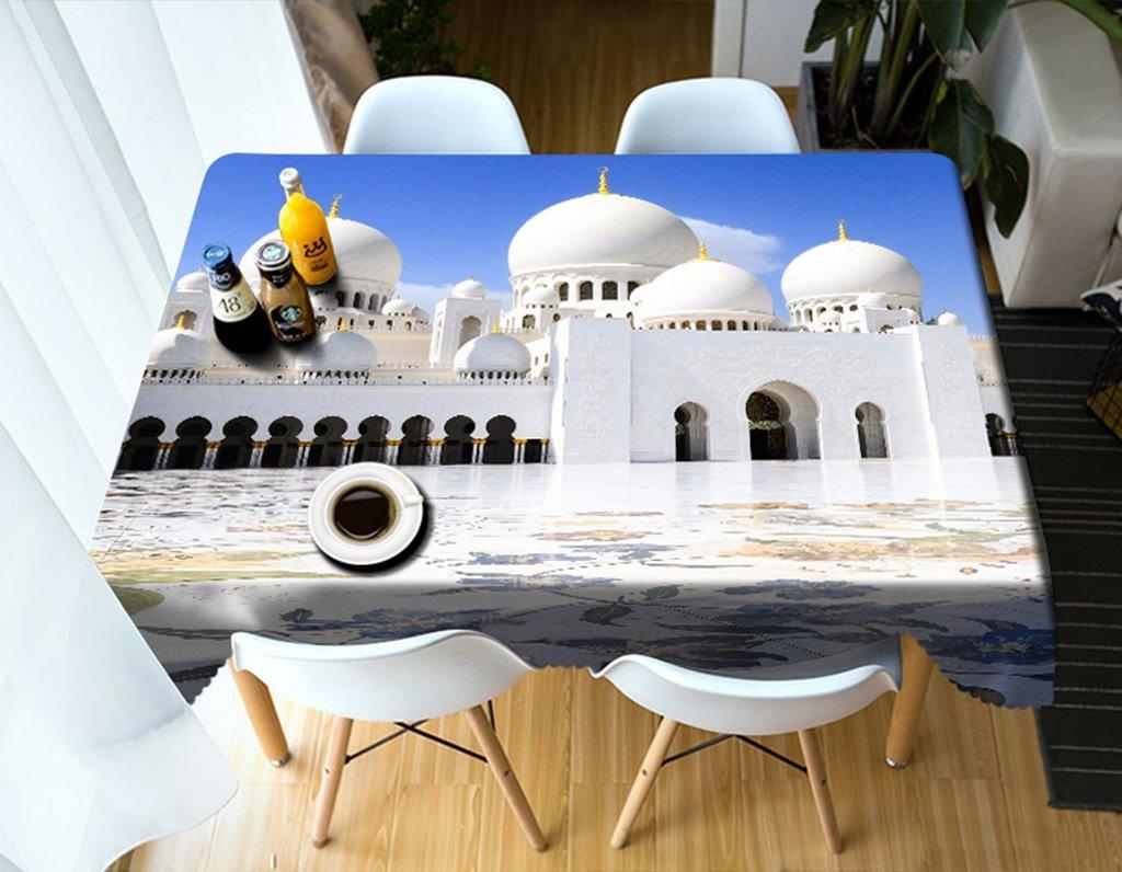 Qiao jin Manteles Manteles rectangulares - 3D Landscape Series Tablecloth Vc25 - Respetuoso con el Medio Ambiente y sin Sabor - Impreso digitalmente a Prueba de Agua (Tamaño : Square -216cmx216cm)