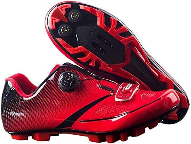 Zapatos para Hombre Zapatillas de Ciclismo autoblocantes ...