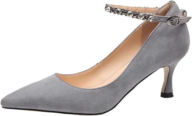 Décollte Chaussures Éscarpins Sandales Femmes Talon Carré