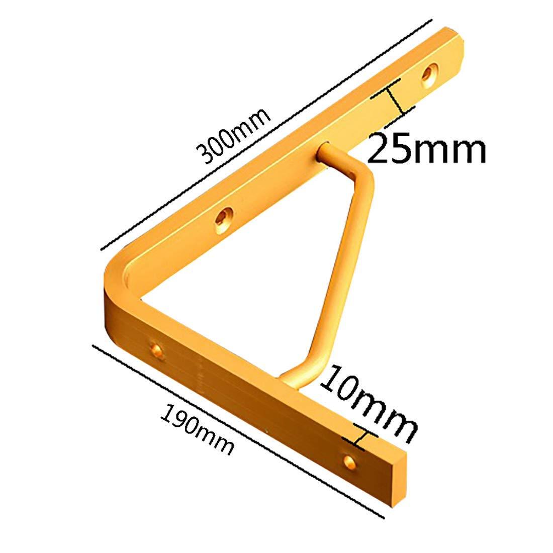 Support de tablette en alliage d/'aluminium support de tablette robuste en forme de l fix/é au mur or 2 pi/èces support /à 90 degr/és