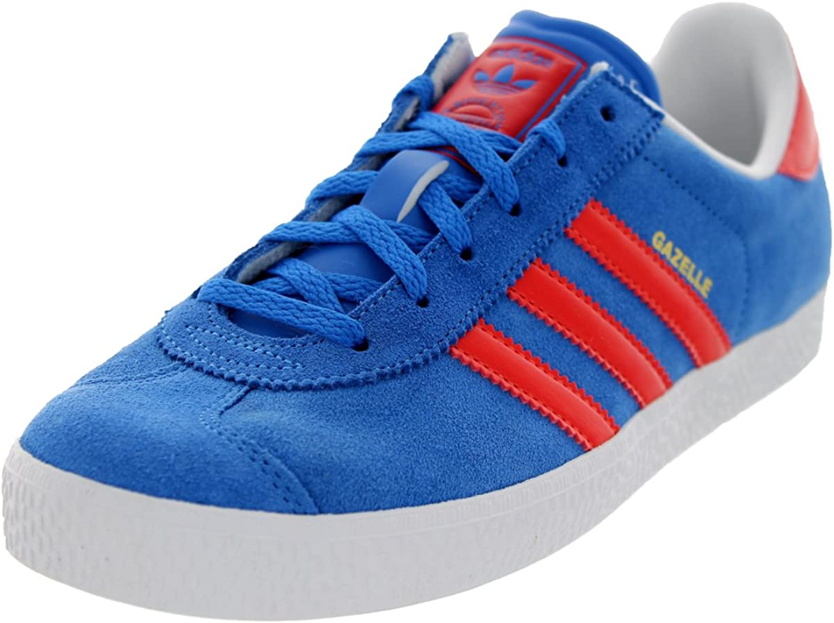 Manifestación Culpable tolerancia  Amazon.com: Adidas Gazelle II Blue White Suede Youth Trainers Size 6 UK:  Shoes