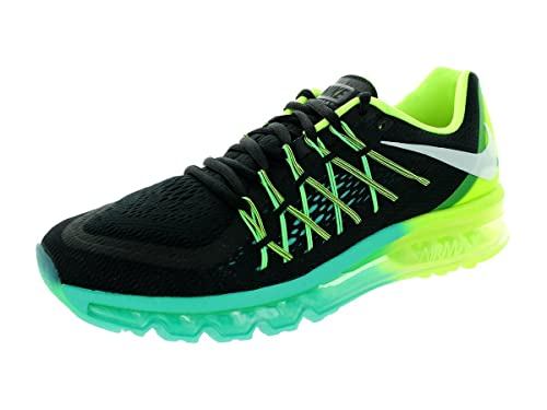 buy popular 546d3 7d50a Nike Men s Air Max 2015 Running Shoe Black White Volt Hyper Jade 9.5 D(M)  US  Buy Online at Low Prices in India - Amazon.in