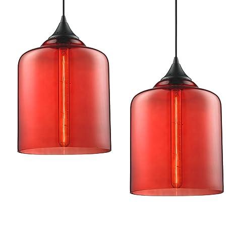 Amazon.com: clásico Industrial moderna luz Globo de vidrio ...