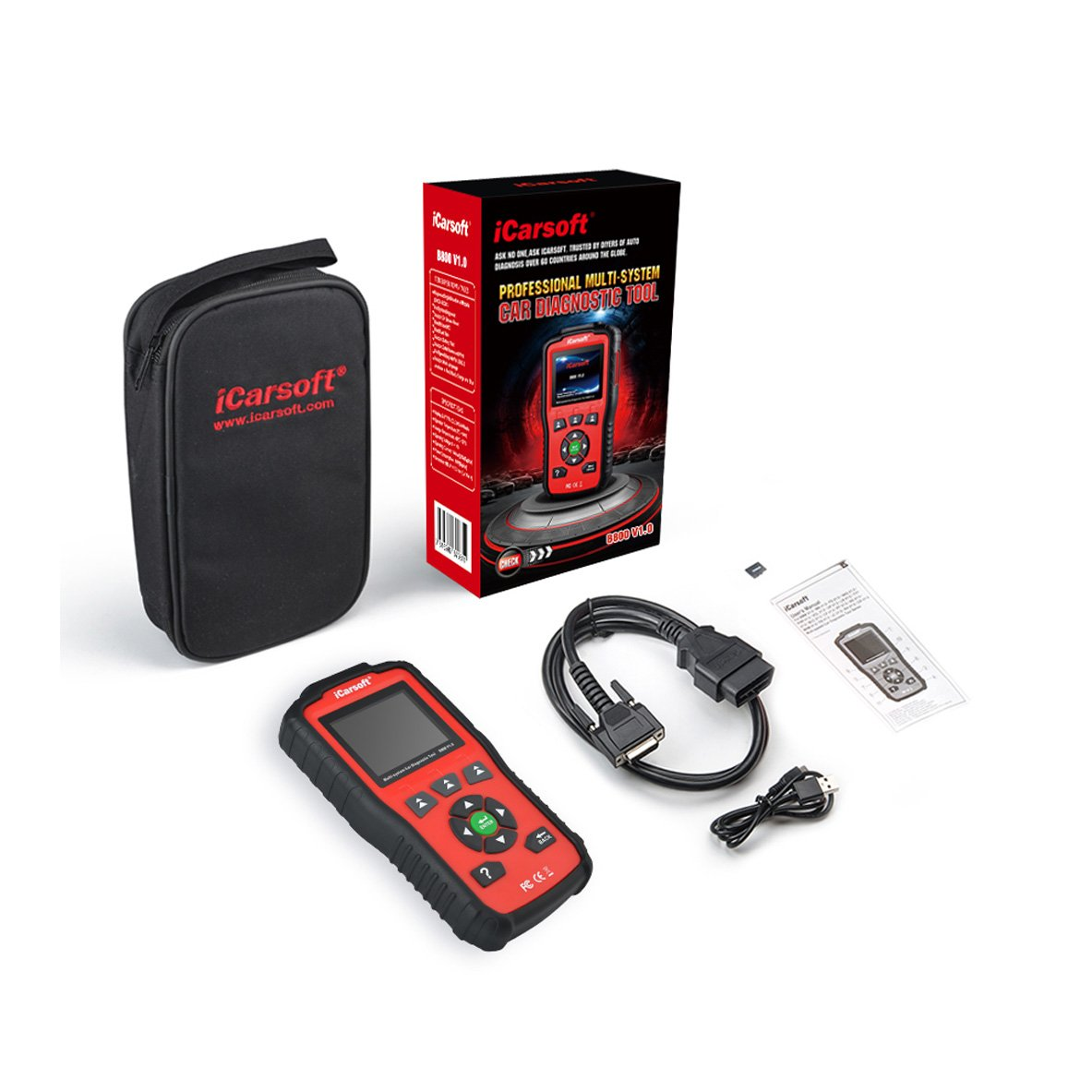 iCarsoft Auto Diagnostic Scan Tool B800 V1.0 Auto Diagnostic Scanner for BMW and Mini with ABS Scan,Oil Reset etc