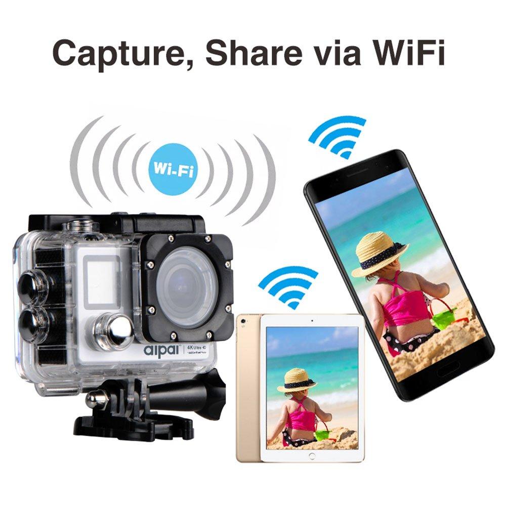 Hanbaili アップグレードされたHD 4K 1080P / 60fps WiFiアクションカメラ、1600万画素のAPP制御ディープダイビング100フィート、アウトドアエクストリームスポーツバイクダイビングに最適  silver B078JSLPVG