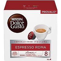 NESCAFÉ Dolce Gusto Espresso Roma, Caffè Espresso, 6 Confezioni da 16 Capsule (96 Capsule)
