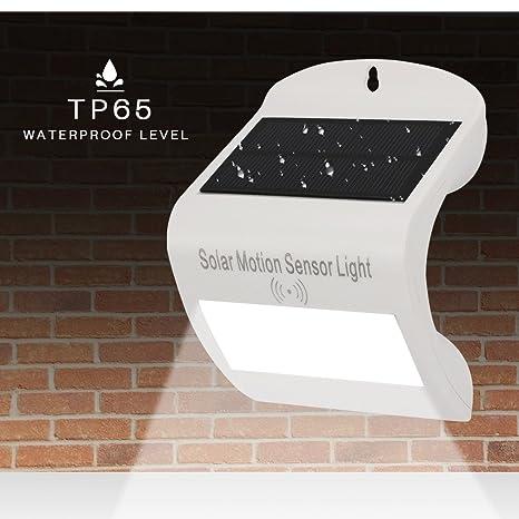 öuesen Solar Leuchten con radar Detector de movimiento (10 LED Solar Lámpara de pared solar