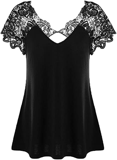 Ladies Women Frill Necklace Gypsy Short tunic Sleeve Long V Neck tops