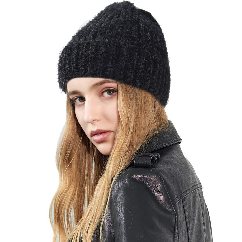VBIGER Bonnet Hiver Chaud Tricot Mignon pour Femme