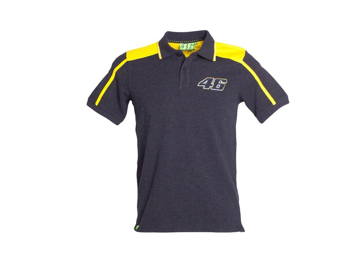 Camisa de Polo de Moto GP de Valentino Rossi VR46 negro oficial ...
