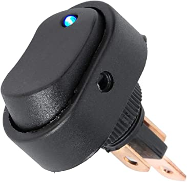2PCS Car Boat Light Red LED Power Switch 3 PIN DC 12V 30A Rocker Control