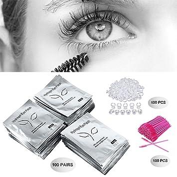 46703b54e03 3x100 Packs- Under Eye Pads Lint Free Lash Extension Eye Gel Patches &  Eyelash Mascara