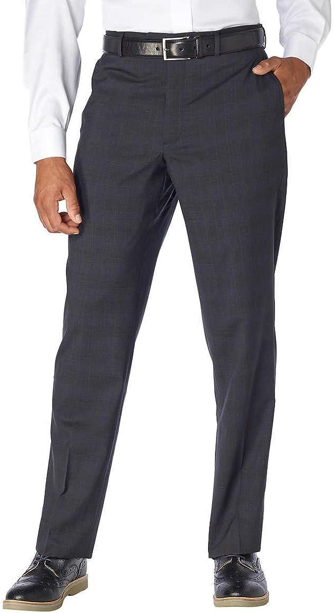 Kirkland Signature Men/'s Wool Pleated Dress Slack Pant Charcoal Gray