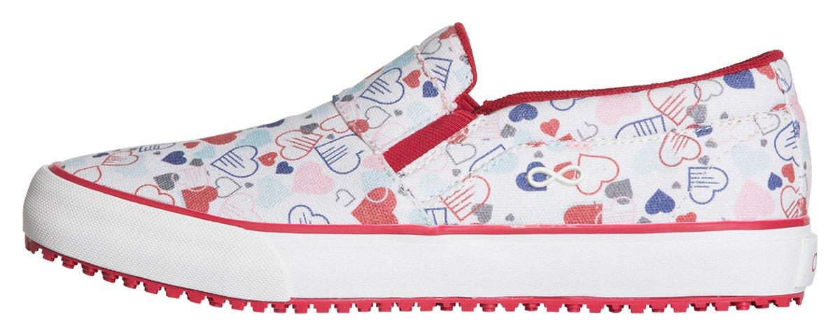 Infinity Footwear Women's Vulcanized Footwear B079FW896K 7H|Textile,hearts,marshmallow
