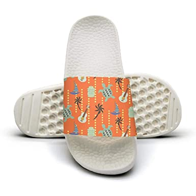 904d1aaf14d8 Amazon.com  Hawaii beach orange Mens sliders Slide Sandal  Clothing