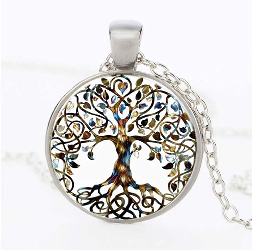 1PC Vintage San Diego Mall Ladies' Necklace the Tree Life of Pendant Glass OFFer Gem