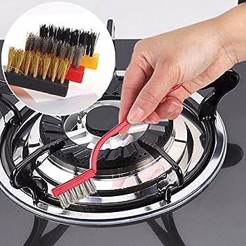 lazynice profesional Gas estufa caldera cepillo de limpieza, Set de 3 Full Wash grifo de