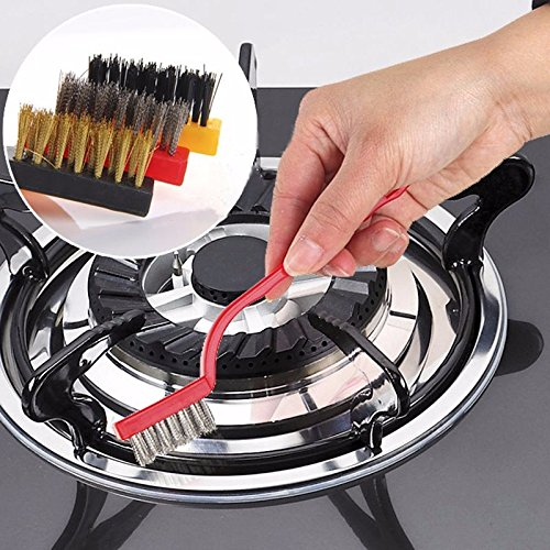 Lazynice Professional Gas Stove Boiler Cleaning Brush, Set of 3- Full Wash Stove Seams, oil Grease, Pipe Rust, Faucet Corner, Smoke Exhaust Ventilator, Sink Corner (Floor Gas Range)