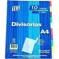Divisória P/ Fichário Universitário C/ 10 Div C/ Visor A4 Cores Sortidas 10INTBA Yes
