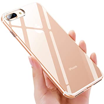 iKALULA Funda iPhone 8 Plus, Carcasas Case iPhone 7 Plus Silicona Protector Antideslizante Estuches Fundas iPhone 7 Plus Suave TPU Ultra Fina Cover ...