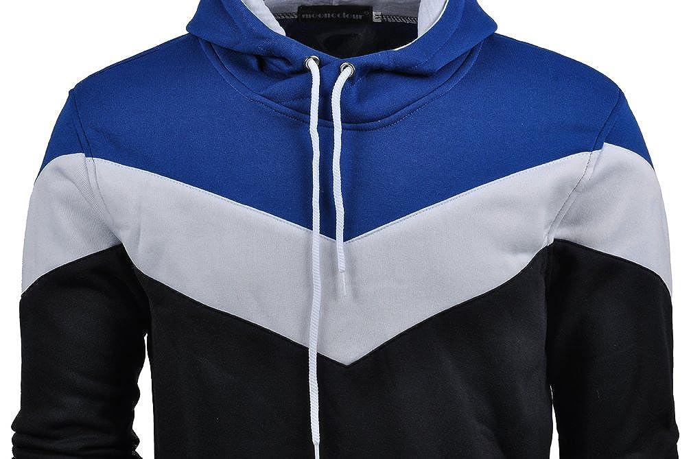 Mooncolour Sudadera deportiva con capucha para hombre, muy confortable, diseño de colores, ideal para el otoño: Amazon.es: Ropa y accesorios