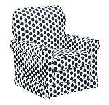 Product review for Stork Craft Polka Dot Upholstered Swivel Glider - White/Navy