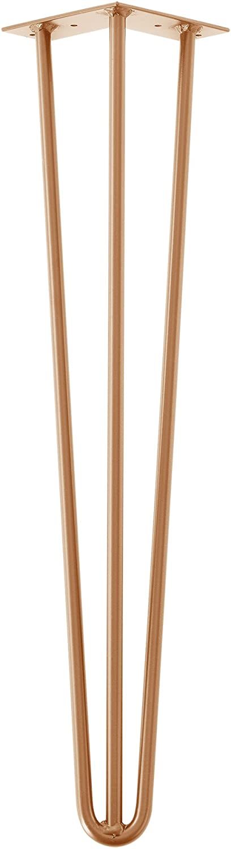 Color: Cobre 20 cm 3 Varillas en.casa Set de 4 Patas de Acero robustas Hairpin Legs