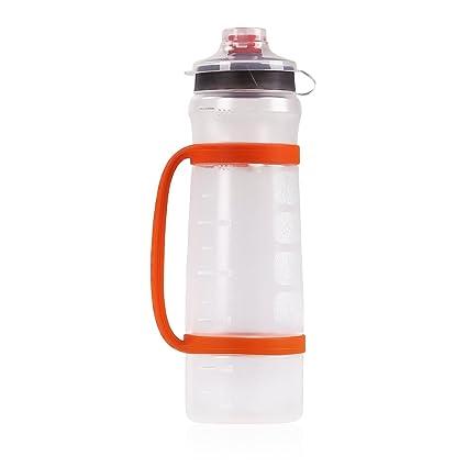 MoKo Deportes Botella de Agua - 600ml Gran Capacidad Con Flip-Top, Plástico Ecológico